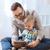 père · en · fils · jouer · maison · famille · enfance - photo stock © dolgachov