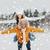 冬天 · 情侶 · 快樂 · 搭載 · 雪 · 微笑 - 商業照片 © dolgachov