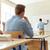 leraar · schooljongen · middelbare · school · klasse · boek · man - stockfoto © dolgachov