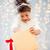 nina · apertura · caja · de · regalo · feliz · jóvenes - foto stock © dolgachov