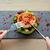 salada · legumes · queijo · prato · faca · garfo - foto stock © dolgachov