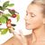 mulher · maçã · galho · quadro · cara · saúde - foto stock © dolgachov