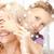 mãe · filha · piada · natal - foto stock © dolgachov
