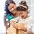 улыбающаяся · женщина · шкатулке · домой · люди · праздников · празднования - Сток-фото © dolgachov