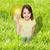 energie · besparing · lamp · hand · groen · gras · gebarsten - stockfoto © dolgachov