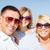 família · feliz · blue · sky · verão · férias · crianças · pessoas - foto stock © dolgachov