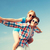 glimlachend · paar · hemel · vakantie · vakantie - stockfoto © dolgachov