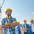 csoport · építők · kint · üzlet · épület · csapatmunka - stock fotó © dolgachov