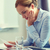 businesswoman having problem in office stock photo © dolgachov