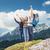 çift · hikers · başarı · dağlar · adam · kadın - stok fotoğraf © dolgachov