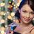 kadın · kokteyl · noel · ağacı · ışıklar · parti · içecekler - stok fotoğraf © dolgachov