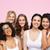 группа · счастливым · различный · женщины · белый · белье - Сток-фото © dolgachov