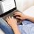 homem · datilografia · computador · portátil · casa · tecnologia - foto stock © dolgachov