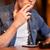 man drinking beer and smoking cigarette at bar stock photo © dolgachov