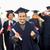 boldog · diák · diploma · ünnepel · érettségi · oktatás - stock fotó © dolgachov