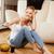 glimlachend · tienermeisje · afstandsbediening · foto · vrouw · voedsel - stockfoto © dolgachov
