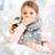 tél · lány · hópelyhek · portré · szépség · ruházat - stock fotó © dolgachov