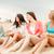 улыбаясь · девочек · напитки · пляж · лет · праздников - Сток-фото © dolgachov