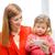 gelukkig · gezin · spelen · nieuw · huis · moeder · dochter - stockfoto © dolgachov