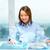 mosolygó · nő · mutat · Föld · hologram · üzlet · oktatás - stock fotó © dolgachov