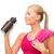 sporty woman with special sportsman bottle stock photo © dolgachov