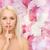 sérieux · calme · femme · silence · geste - photo stock © dolgachov