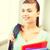 studente · ragazza · scuola · bag · colore · cartelle - foto d'archivio © dolgachov