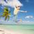 幸せ · 十代の少女 · ジャンプ · ビーチ · 日没 · 時間 - ストックフォト © dolgachov