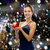 mosolygó · nő · estélyi · ruha · piros · ajándék · doboz · ünnepek · ünneplés - stock fotó © dolgachov