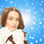 glimlachend · jonge · vrouw · winter · kleding · geluk · vakantie - stockfoto © dolgachov