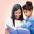 madre · hija · lectura · libro · feliz · cute - foto stock © dolgachov