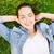 若い女性 · 草 · ツリー · 夏 · 女性 - ストックフォト © dolgachov