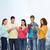 csoport · tinédzserek · okostelefonok · táblagép · emberek · kommunikáció - stock fotó © dolgachov