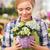 kobieta · kwiaty · czarnej · kobiety · model · włosy · zabawy - zdjęcia stock © dolgachov