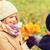 lächelnd · Kinder · Herbst · Park · Kindheit · Jahreszeit - stock foto © dolgachov