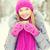 微笑 · 年輕女子 · 杯 · 冬天 · 森林 · 季節 - 商業照片 © dolgachov