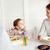 familia · feliz · cena · restaurante · Servicio · familia - foto stock © dolgachov