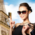 glimlachende · vrouw · plastic · kaart · winkelen · verkoop - stockfoto © dolgachov