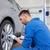 mecánico · destornillador · coche · neumático · servicio · reparación - foto stock © dolgachov