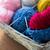 basket with knitting needles and balls of yarn stock photo © dolgachov
