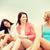 девочек · напитки · пляж · лет · праздников · отпуск - Сток-фото © dolgachov