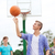 chicos · jugando · baloncesto · jóvenes · hasta - foto stock © dolgachov
