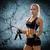 fiatal · sportos · nő · ugrik · kötél · sport - stock fotó © dolgachov