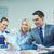 equipe · de · negócios · discussão · negócio · tecnologia · escritório - foto stock © dolgachov