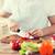 рук · томатный · острый · ножом · таблице - Сток-фото © dolgachov