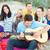 grupo · feliz · amigos · jogar · guitarra · praia - foto stock © dolgachov