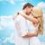 красивой · пару · целоваться · Blue · Sky · женщину · пляж - Сток-фото © dolgachov