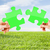 mavi · yeşil · ot · bilmece · gökyüzü · çim · yaprak - stok fotoğraf © dolgachov