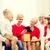 sonriendo · familia · caja · de · regalo · casa · vacaciones - foto stock © dolgachov