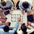 Business-Team · Blaupause · Geschäftsleute · Architektur · Teamarbeit - stock foto © dolgachov